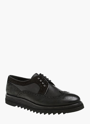 Divarese Deri Oxford Ayakkabı Siyah
